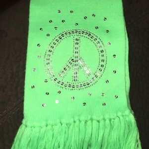 Justice Accessories - Justice brand lime green scarf with tassels